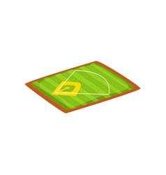 baseball stadium sports ground vector image