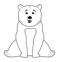 Bear line icon vector