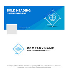 blue business logo template for iot internet vector image