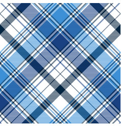 Blue diagonal abstract plaid seamless pattern vector
