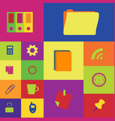 Business and office icon vector