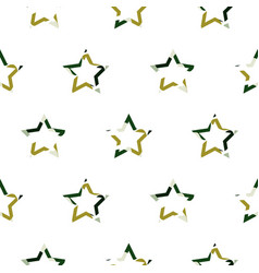 Camouflage star shapes seamless pattern vector