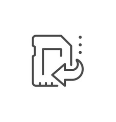 Card data recovery line outline icon vector