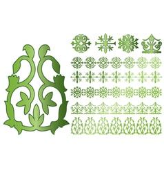 Caucasus ornaments vector