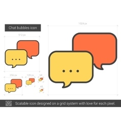 Chat bubbles line icon vector