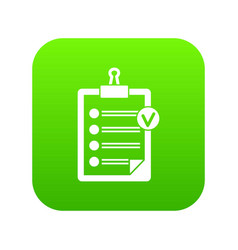 check list icon digital green vector image