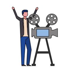 cinema film movie vector image