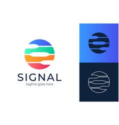 circle single logo signal for logo design vector image