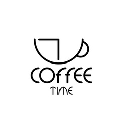 coffee time concept design template vector image
