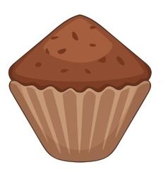 Cupcake icon cartoon style vector image