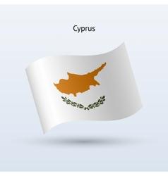 Cyprus flag waving form vector image