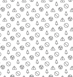 Danger and alarm pattern seamless vector image