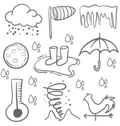 doodle of weather element art vector image