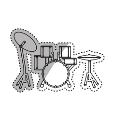 Drummer music instrument vector image