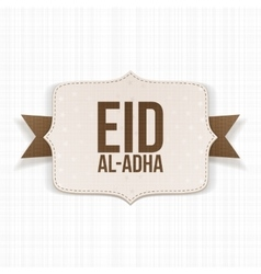 Eid al-Adha festive paper Label vector