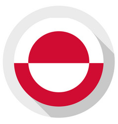 flag greenland round shape icon on white vector image