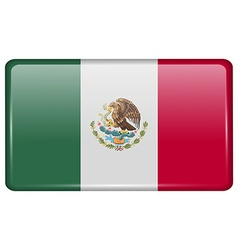 Flags Mexico in the form of a magnet on vector