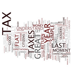 Flat tax it could work text background word cloud vector