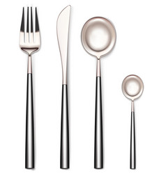 fork spoons and knife vector image
