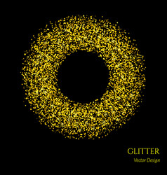 glitter circle backdrop vector image
