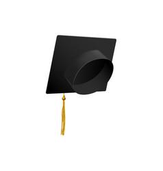 graduation cap tassel symbol education vector image
