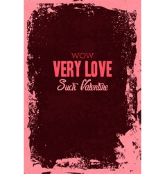 Happy Valentine day Greeting Lettering Card vector image