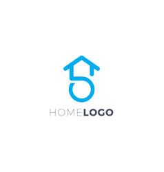 Home letter s logo vector