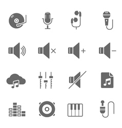 Icon set - audio vector
