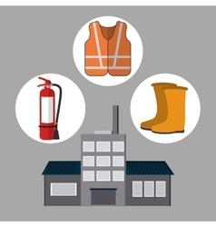 Industrial factory design vector