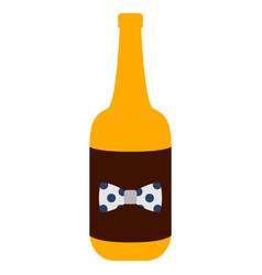 isolated beer bottle icon vector image