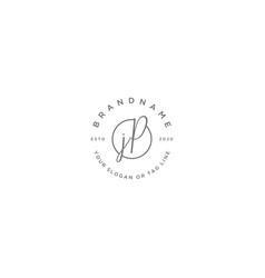 Jp letter feminine logo design vector