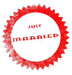 just married ink stamp vector image