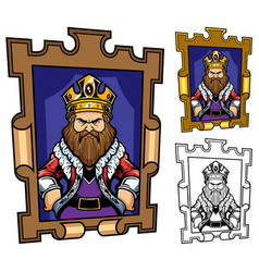 King cartoon portrait vector