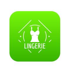 Lingerie icon green vector