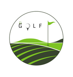 logo golf club vector image