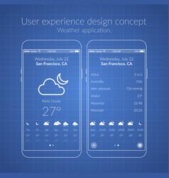 Mobile ux design concept vector