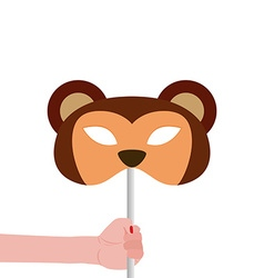 Monkey mask vector image