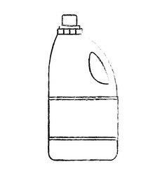 monochrome blurred silhouette of detergent bottle vector image