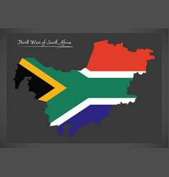 North west south africa map with national flag vector