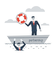 Partnership or insurance concept vector