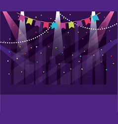 party banner and buildings design vector image