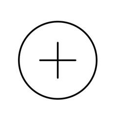 Plus sign icon vector