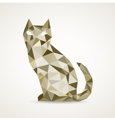 Polygonal cat vector image