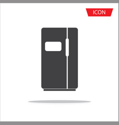 refrigerator icon isolated on white background vector image