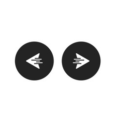 right left or next back icon arrows right or left vector image