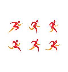 running people icons and symbols vector image