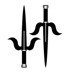Sai ninja weapon isolated on white background vector