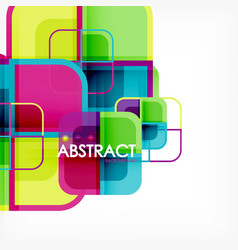 Square geometric abstract background paper art vector