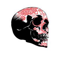 sugar skull image vector image