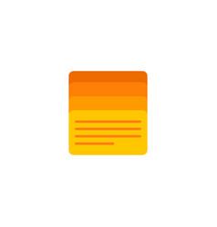task list icon flat element vector image